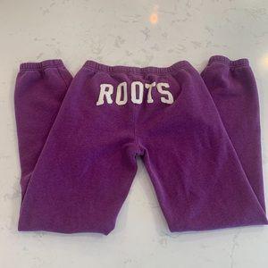 ROOTS magenta sweatpants size S